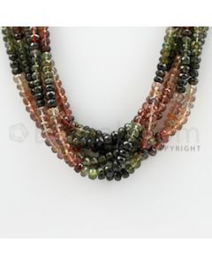 3.20 to 4.80 mm - 6 Lines - Tourmaline Faceted Beads - 19 inches (MuToFB1015)