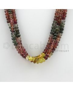 5.00 to 6.50 mm - 3 Lines - Tourmaline Faceted Beads - 18 inches (MuToFB1016)