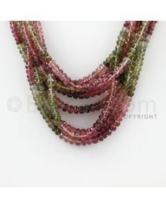 3.20 to 5.00 mm - 8 Lines - Tourmaline Faceted Beads - 16 inches (MuToFB1020)