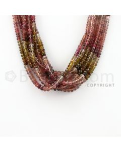 3.20 to 4.80 mm - 8 Lines - Tourmaline Faceted Beads - 16 inches (MuToFB1021)
