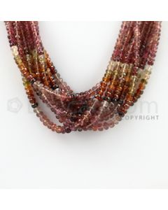 3.20 to 5.00 mm - 9 Lines - Tourmaline Faceted Beads - 16 inches (MuToFB1022)
