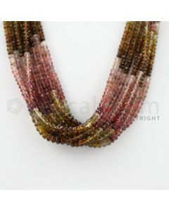 3.00 to 5.00 mm - 8 Lines - Tourmaline Faceted Beads - 16 inches (MuToFB1023)