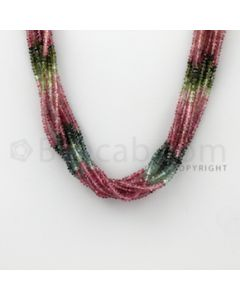2.60 to 3.00 mm - 8 Lines - Tourmaline Faceted Beads - 15.50 inches (MuToFB1024)