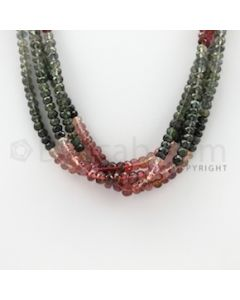 3.50 to 5.00 mm - 4 Lines - Tourmaline Faceted Beads - 16 inches (MuToFB1025)