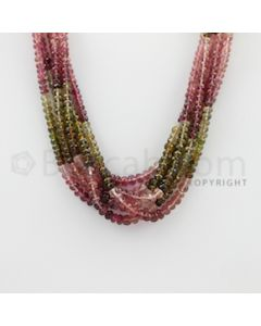 3.20 to 5.00 mm - 6 Lines - Tourmaline Faceted Beads - 17 inches (MuToFB1026)