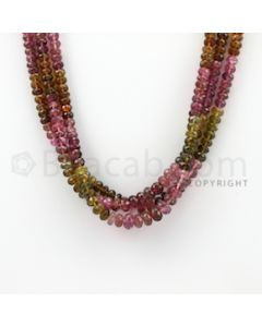 5.30 to 6.20 mm - 3 Lines - Tourmaline Faceted Beads - 15.50 inches (MuToFB1027)