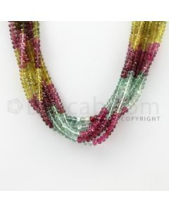4.40 to 4.50 mm - 6 Lines - Tourmaline Faceted Beads - 16 inches (MuToFB1028)
