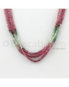 2.50 mm - 4 Lines - Tourmaline Faceted Beads - 16 inches (MuToFB1029)