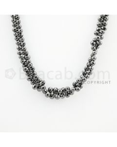 4.40 to 5.60 mm - 1 Line - Black Diamond Drop Beads - 13 inches (DiaDrp1015)