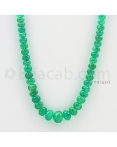 4.20 to 10.40 mm - 1 Line - Emerald Smooth Beads - 23 inches (EmSB1018)
