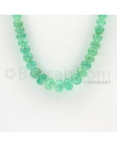 4.00 to 9.10 mm - 1 Line - Emerald Smooth Beads - 22 inches (EmSB1020)