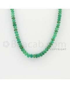 3.60 to 5.00 mm - 1 Line - Emerald Smooth Beads - 23 inches (EmSB1022)