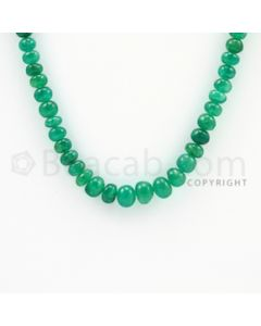 4.50 to 7.80 mm - 1 Line - Emerald Smooth Beads - 20 inches (EmSB1023)