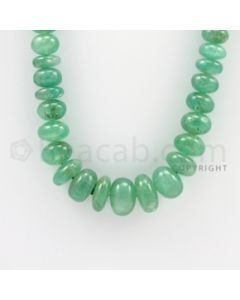 5.00 to 16.50 mm - 1 Line - Emerald Smooth Beads - 20 inches (EmSB1025)