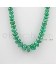 8.00 to 16.50 mm - 1 Line - Emerald Smooth Beads - 19.50 inches (EmSB1026)
