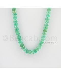 7.00 to 7.80 mm - 1 Line - Emerald Smooth Beads - 22 inches (EmSB1027)