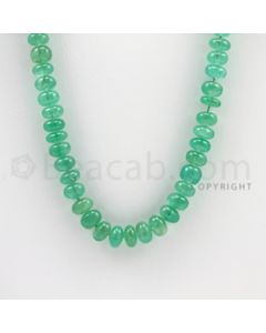4.50 to 7.80 mm - 1 Line - Emerald Smooth Beads - 20 inches (EmSB1028)