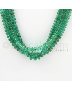 4.50 to 5.50 mm - 3 Lines - Emerald Smooth Beads - 17 inches (EmSB1035)