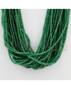 2.50 to 3.50 mm - 29 Lines - Emerald Smooth Beads - 16 inches (EmSB1039)