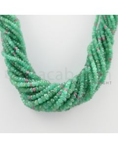 2.80 to 5.40 mm - 18 Lines - Emerald Faceted Beads Necklace - 17 inches (CSNKL1073)