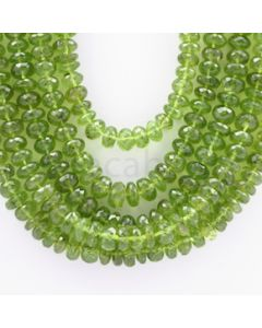 8.00 to 10.00 mm - 5 Lines - Peridot Faceted Beads - 21 to 27 inches (PFRo1006)