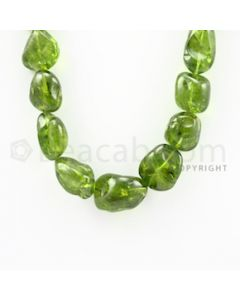 14.00 to 24.00 mm - 1 Line - Peridot Tumbled Beads - 14 inches (PSTu1009)