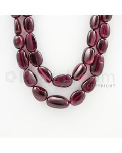 11.70 to 22.00 mm - 2 Lines - Tourmaline Tumbled Beads - 18 to 20 inches (ToTuB1029)