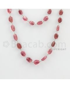 8.00 to 14.50 mm -  - Tourmaline Tumbled Beads Gold Wire Wrap Necklace - 40 inches (GWWCS1063)