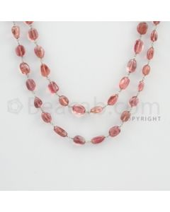 6.50 to 11.80 mm - 1 Line - Tourmaline Tumbled Beads Gold Wire Wrap Necklace - 40 inches (GWWCS1064)