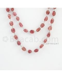 5.50 to 10.00 mm - 1 Line - Tourmaline Tumbled Beads Gold Wire Wrap Necklace - 40 inches (GWWCS1065)