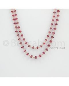 3.50 to 7.00 mm - 1 Line - Tourmaline Faceted Beads Gold Wire Wrap Necklace - 40 inches (GWWCS1091)