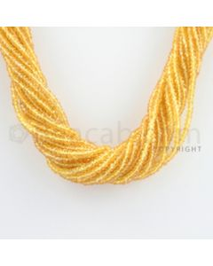 2.50 to 3.00 mm - 21 Lines - Yellow Sapphire Faceted Beads - 19.5 inches (YSFB1006)