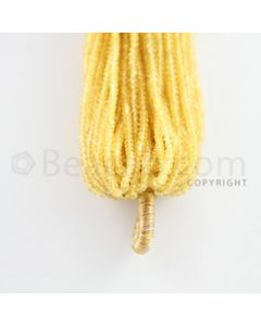 2.50 to 2.70 mm - 54 Lines - Yellow Sapphire Faceted Beads - 12 inches (YSFB1009)