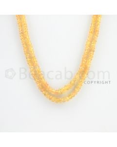 2.50 to 4.00 mm - 2 Lines - Yellow Sapphire Faceted Beads - 14 to 15 inches (YSFBC1001)