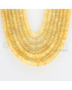 2.50 to 6.00 mm - 7 Lines - Yellow Sapphire Faceted Beads - 20 to 23 inches (YSFBC1003)