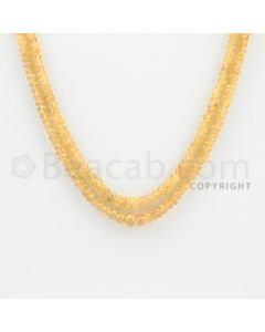 2.40 to 5.00 mm - 2 Lines - Yellow Sapphire Faceted Beads - 17 to 18 inches (YSFBC1009)