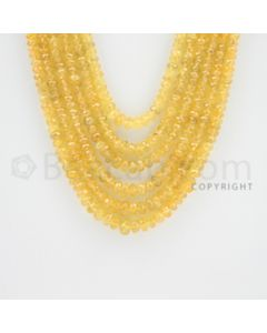 2.50 to 6.50 mm - 6 Lines - Yellow Sapphire Faceted Beads - 19 to 20 inches (YSFBC1011)