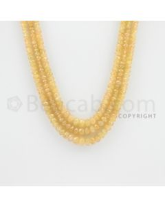 2.60 to 5.20 mm - 3 Lines - Yellow Sapphire Faceted Beads - 15 to 16 inches (YSFBC1012)
