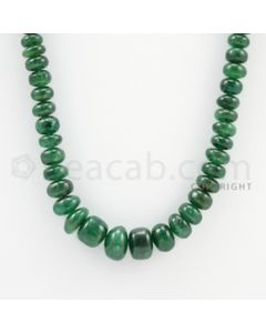 6.00 to 12.50 mm - 1 Line - Emerald Smooth Beads - 23 inches (EmSB1040)