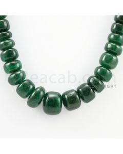 10.00 to 16.50 mm - 1 Line - Emerald Smooth Beads - 16 inches (EmSB1041)