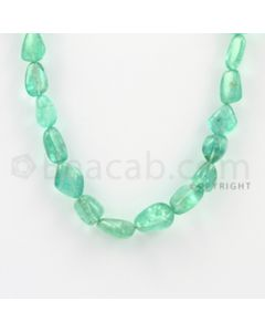 9.50 to 15.00 mm - 1 Line - Emerald Tumbled Beads - 22 inches (EmTub1023)