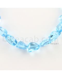 14.00 to 19.00 mm - 1 Line - Blue Topaz Tumbled Beads - 16 inches (BTTuB1005)