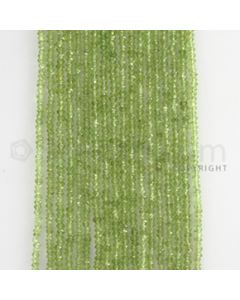 2.10 to 2.30 mm - 30 Lines - Peridot Smooth Beads - 15 inches (PSB1005)