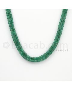 2.80 to 3.60 mm - 2 Lines - Emerald Faceted Beads - 16 inches (EmFB1028)