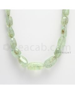 7.50 to 22.00 mm - 2 Lines - Emerald Tumbled Beads - 15 inches (EmFTuB1002)