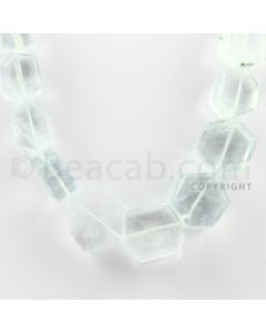 5.00 to 20.00 mm - 1 Line - Aquamarine Hexagonal Beads - 23 inches (AqHexB1004)