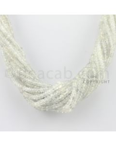 2.50 to 5.00 mm - 15 Lines - White Sapphire Faceted Beads - 15.5 inches (WSFB1002)