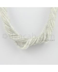 2.00 to 3.20 mm - 15 Lines - White Sapphire Faceted Beads - 15.5 inches (WSFB1003)