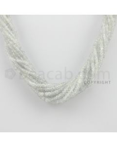 2.30 to 4.20 mm - 8 Lines - White Sapphire Faceted Beads - 15.5 inches (WSFB1004)
