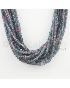 2.40 to 5.10 mm - 10 Lines - Multi-Sapphire Faceted Beads - 17 to 18 inches (MSFB1036)
